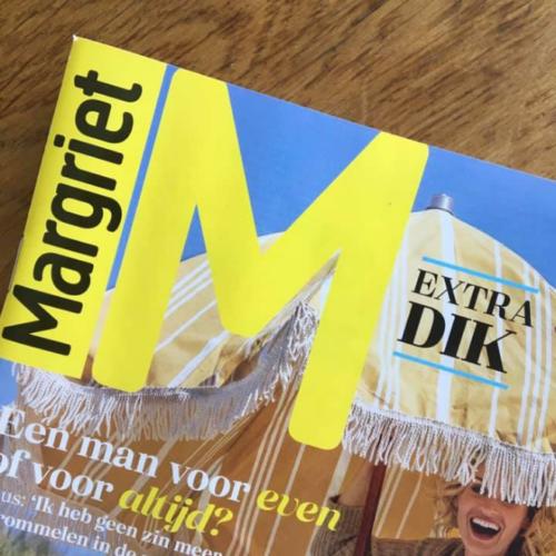 Artikel in weekblad Margriet